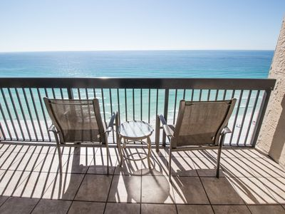 Photo for SPECTACULAR Direct Beach Condo 2 Pools