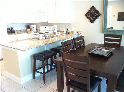 Large Kitchen - Full compliment of cooking supplies, granite countertops