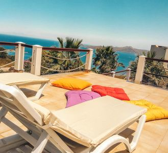 Photo for Beautifully clean 3 bed duplex Villa with Stunning Sea Views and Private Pool
