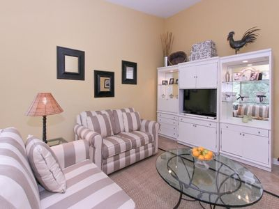 Living Room with Flat Screen at 1812 Bluff Villa