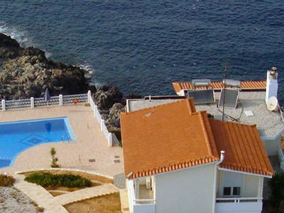 Photo for This 6-bedroom villa for up to 12 guests is located in Stavros Akrotiri and has a private swimming p
