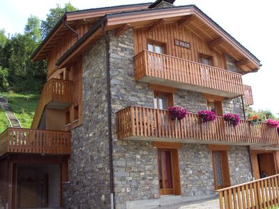 Photo for cottage 12 people with sauna, wifi, garage, garden, 150 m slopes and shops
