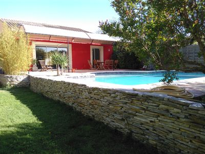 Photo for Beautiful villa with pool between Sète and Montpellier