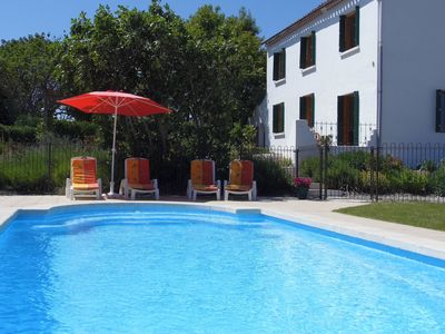 Photo for Spacious Villa Near Carcassonne With Large Gardens, Heated Pool, Fabulous View