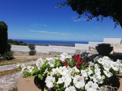 Photo for SOUTHERN APUGLIAN VILLETTA WITH BEST IDYLIC HILL TOP & PANORAMIC SEA VIEWS
