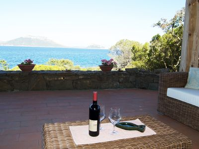 Photo for Villa Gea 9 guests, seafront, beach below!