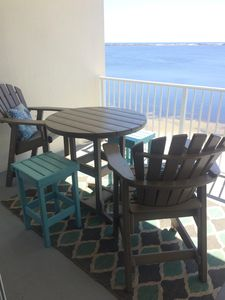 Shaded Balcony Furniture all day every day during summer