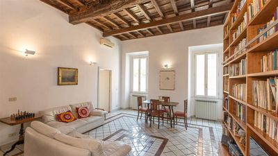 Photo for Spacious Monti 2216 apartment in Centro Storico with air conditioning & balcony.