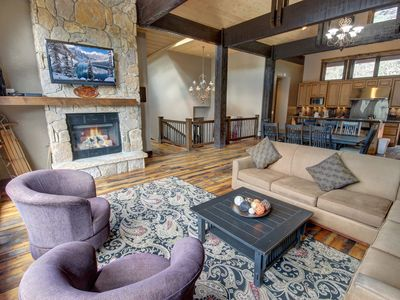 Photo for Located within a walking distance to the main village, this 5 bedroom 4.5 bathroom private home is the ideal place to enjoy your Colorado vacation in style! Luxurious amenities, multiple fireplaces, body jet showers with rain faucets, wet bar and more...th