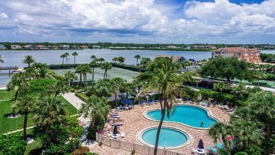 Photo for Intracoastal and Pool Views off Living room and Bedroom, A\C Balcony w/Recliners