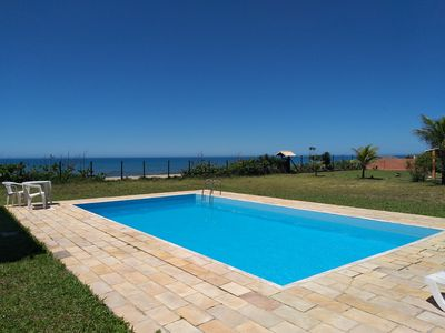 Photo for beachfront house with pool