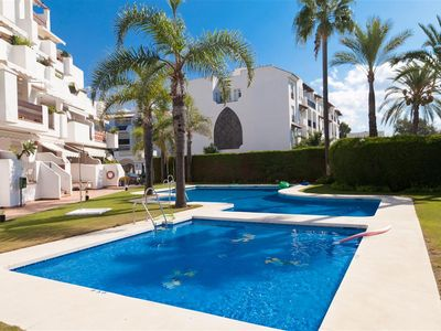 Photo for Large apartment with Private Roof Terrace and Pool, 10 minute walk to the harbour of Puerto Banus