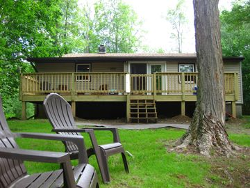 Blair Creek Cabin, Wellsboro. Back Deck Mountain View. WiFi $140.00 S F