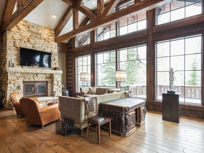 Photo for Elegant ski-in, ski-out private home with mountain views and private hot tub