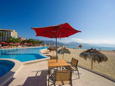 Photo for Lounge On Your Own Private Terrace, Ocean View, 2 Bathrooms, Pool, Gym