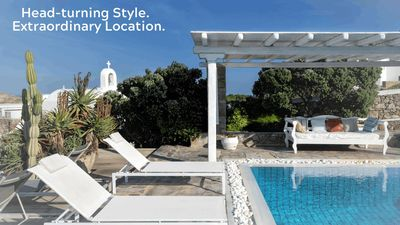 Photo for Next to the Beach. Deluxe 3 Bedrooms with private Pool, Mykonos Villa,