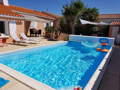 Photo for House T5 Near Beach with Heated Private Pool