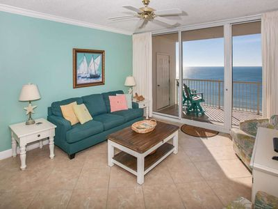 Photo for Gulf-front unit with beautiful views | Pool, hot tub, Wifi | Indoor pool and fitness room available