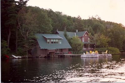 Dock, boat house and cottage - Under the Hemlocks