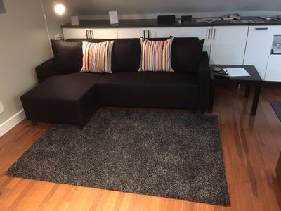 IKEA convertible couch with chaise.