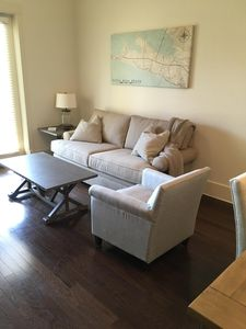 Living Room with     over-sized sofa and 2 chairs