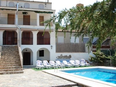 Photo for Village House El Priorat wine region, pool, barbecue. Beach at 47Km