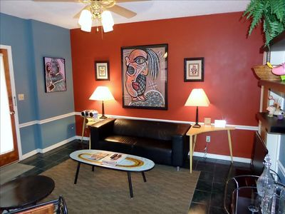 Seating Area surrounded by art