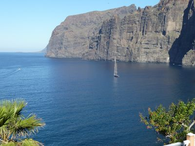 Photo for Apartment 4 people, terrace 32m2, sea view, port and cliffs, superb swimming pool