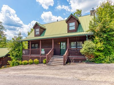 Photo for Pretty cabin w/ private hot tub, shared seasonal pool, game room. Near natl park