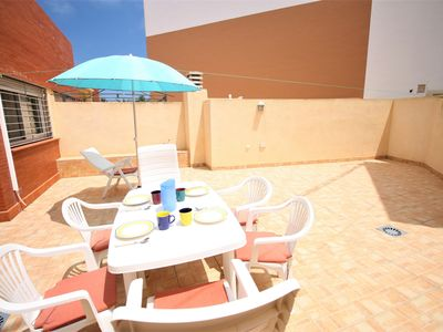 Photo for Airy two bedroom attached house second line in Cabo de Palos