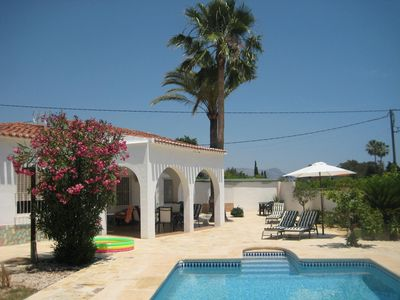 Photo for Friendly holiday home in Albir with pool and large garden
