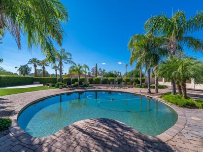 Photo for Private acre lot w/ 110 inch theater room, heated pool/spa & gym