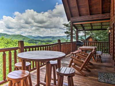 Photo for Sevierville Cabin w/Hot Tub & Views-Near Dollywood