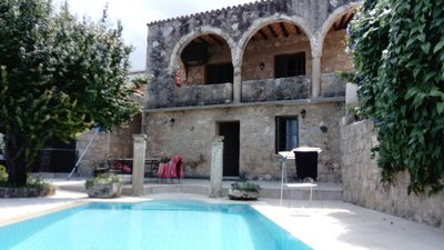 Photo for An original 3 Bedroom Village Stone House with private pool, sea and mountain vi