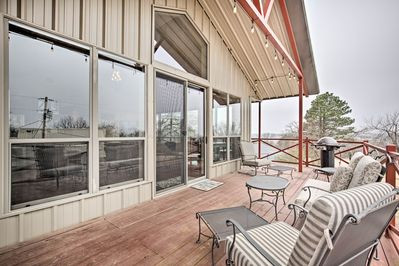 You'll have access to a spacious deck with outdoor seating and gas grill.