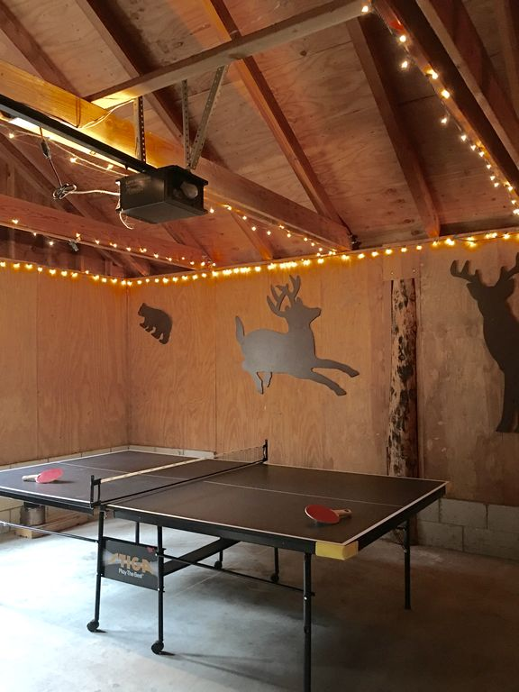 Idyllwild Cabin Al Brand New Ping Pong Table In Garage With Le Lights