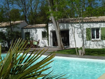 Photo for Ile d'Oleron wooded villa with private heated pool (6 people max)