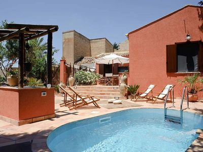 Photo for holiday vacation villa rental italy, sicily, near trapani, near Erice, pool, air conditioning, short term long term vill
