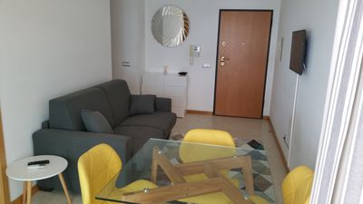 Photo for Modern apartment, well equipped, swimming pool, 2 minutes walking to the beach