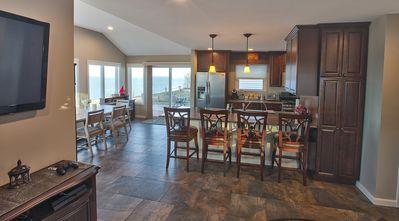 Kitchen One with Open Floor Plan Can Seat 15 People