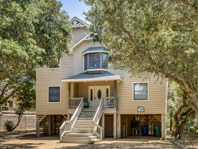 Photo for Salty Sandpiper | 975 ft from the beach | Dog Friendly, Hot Tub