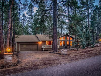 Photo for Pinetop C.C. Retreat: NEW PRIVATE 90 JET HOT TUB, New AC,Firewood,Borders Forest