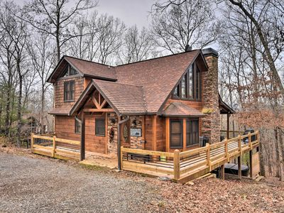 Photo for NEW! Blue Ridge Mtn Cabin w/ Hot Tub & Fire Pit!