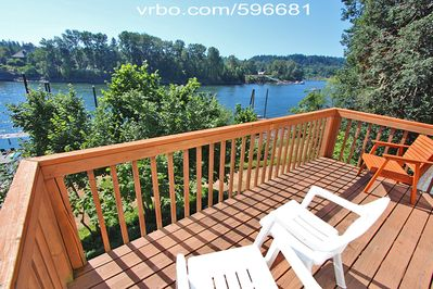 PRIVATE Balcony Lanai Deck with Panoramic Views of Willamette River