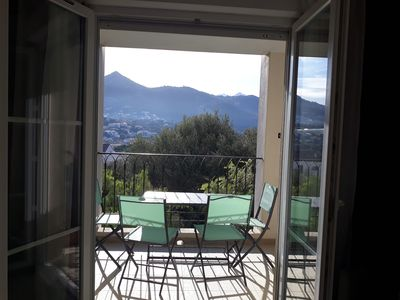 Photo for In the heart of Ile Rousse five minutes walk from the city center and the beach.
