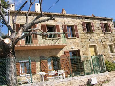 Photo for Stone house in a typical village, sea view,