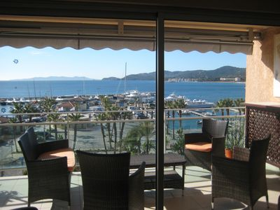 Photo for T3 Le Lavandou exceptional sea view, direct access to the beach
