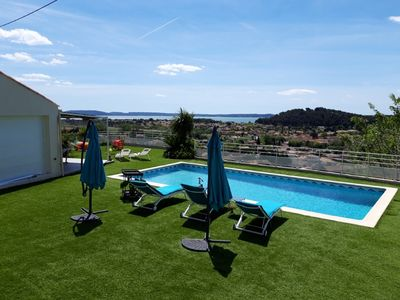 Photo for Apartment with pool and magnificent views in the South of France