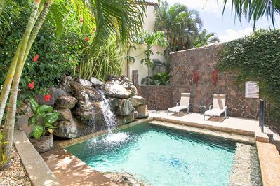 Gorgeous pool with waterfall feature