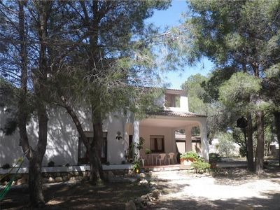 Photo for Large property for 8 with private pool, quiet garden A 5m beach, village